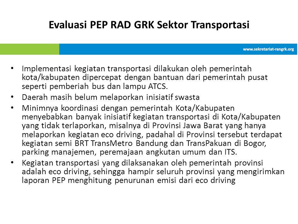 Evaluasi PEP RAD GRK Sektor Transportasi