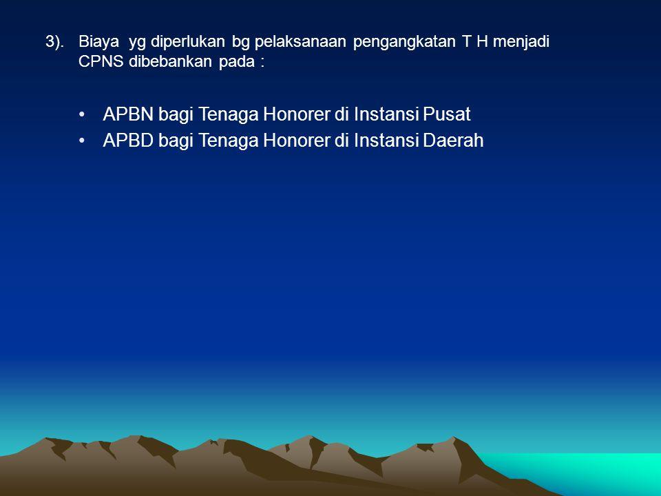 APBN bagi Tenaga Honorer di Instansi Pusat