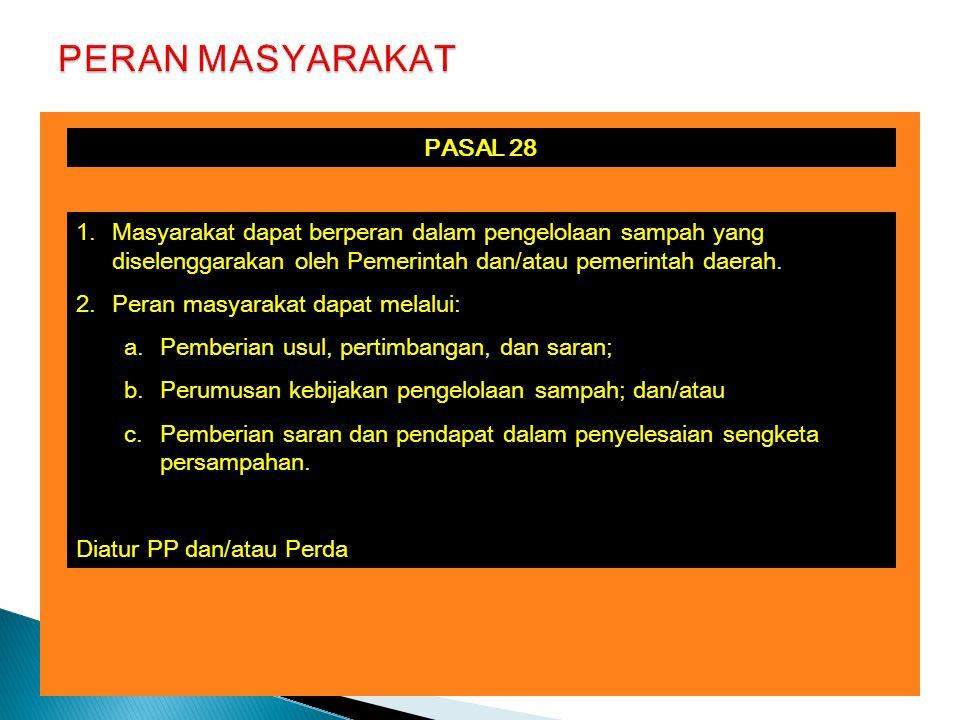 PERAN MASYARAKAT PASAL 28