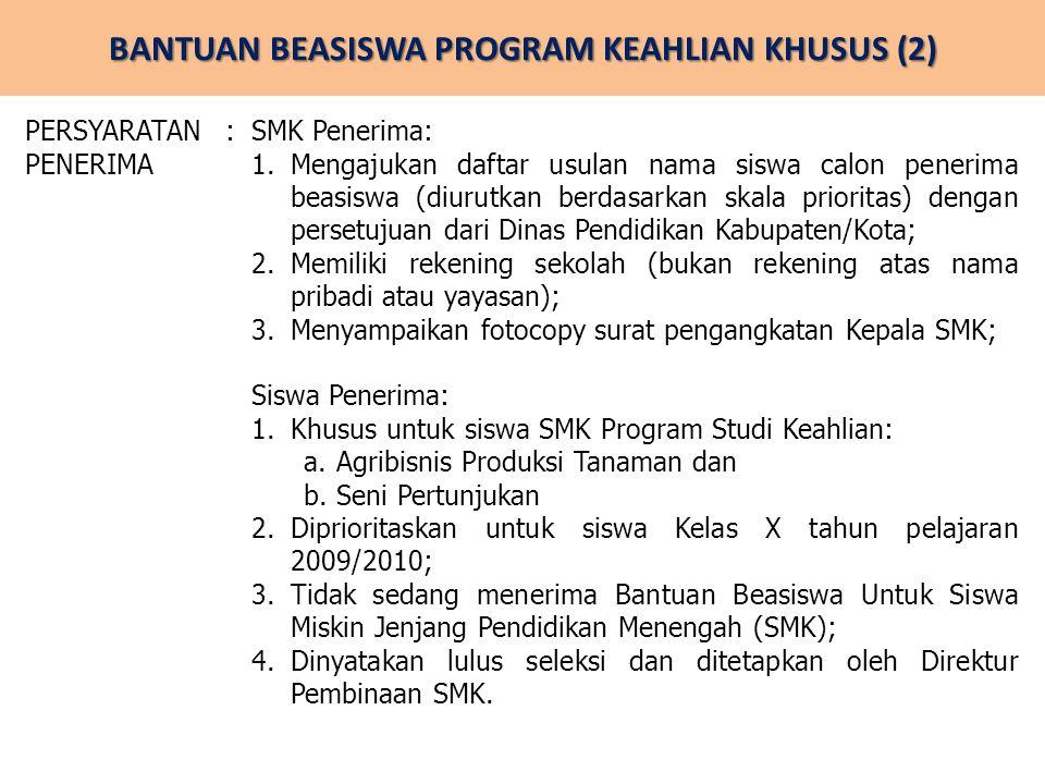 BANTUAN BEASISWA PROGRAM KEAHLIAN KHUSUS (2)