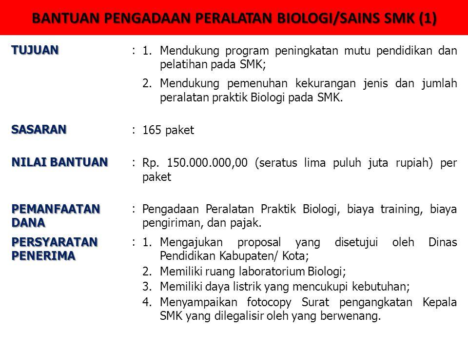 BANTUAN PENGADAAN PERALATAN BIOLOGI/SAINS SMK (1)