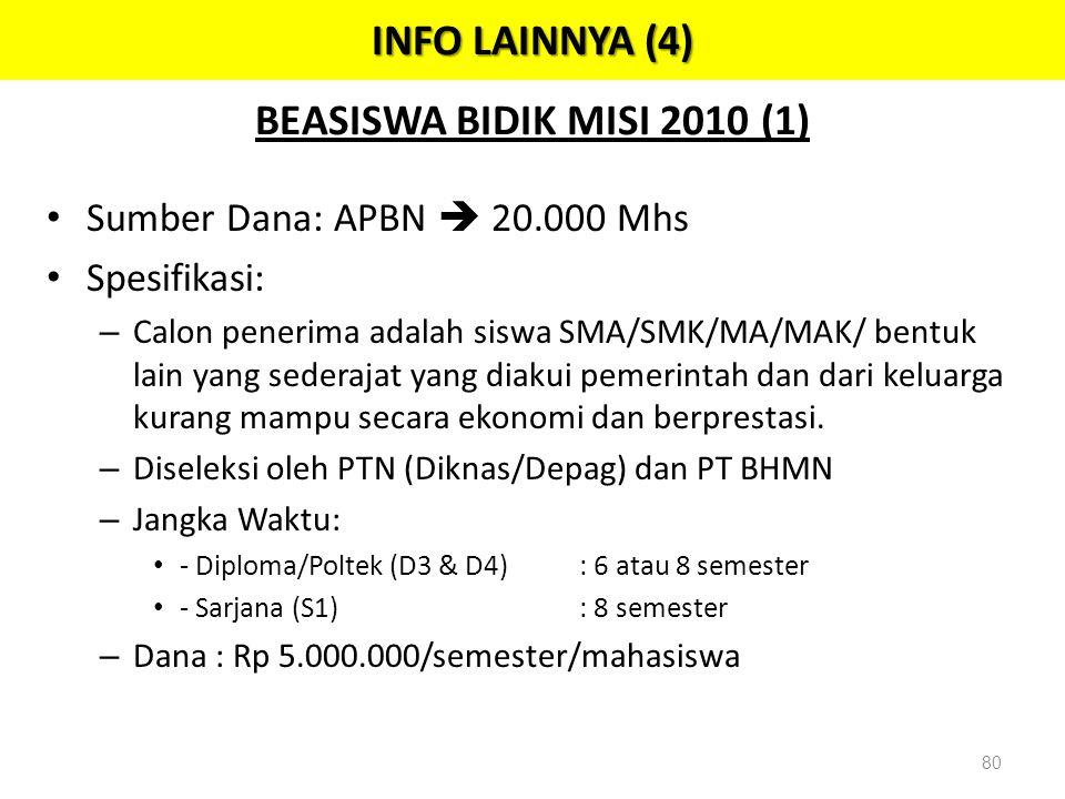 INFO LAINNYA (4) BEASISWA BIDIK MISI 2010 (1)