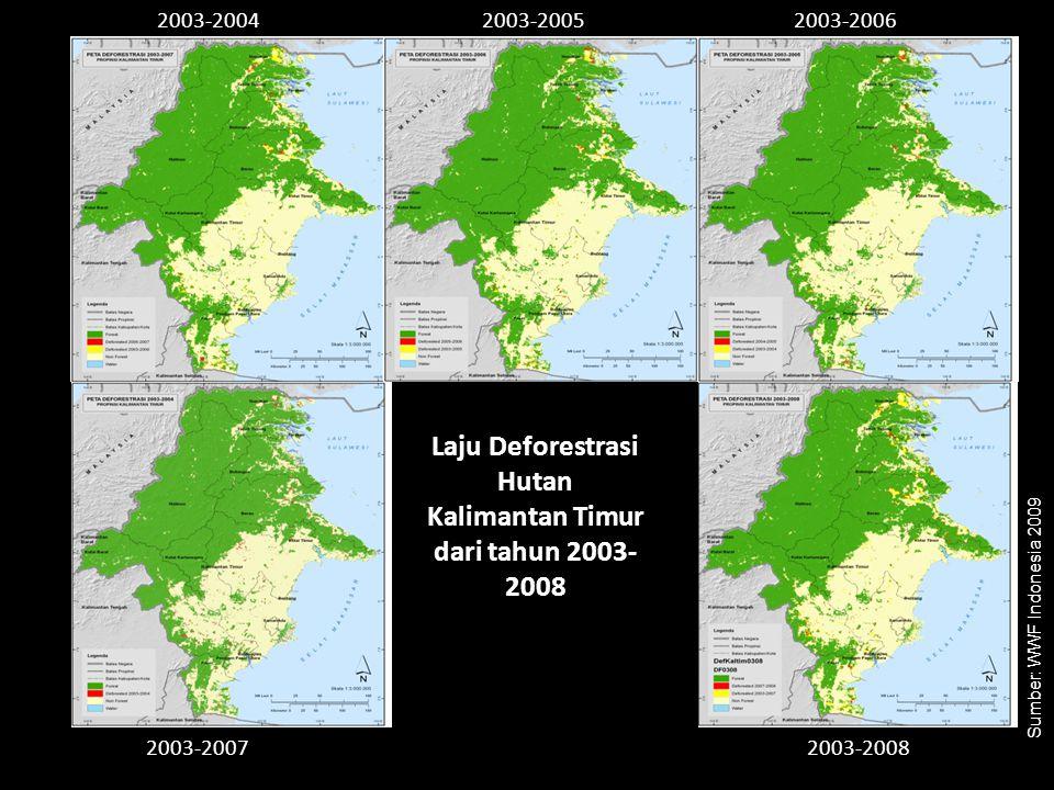 Laju Deforestrasi Hutan Kalimantan Timur dari tahun 2003-2008