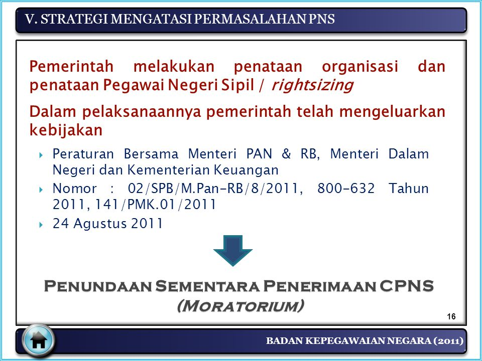 Penundaan Sementara Penerimaan CPNS (Moratorium)