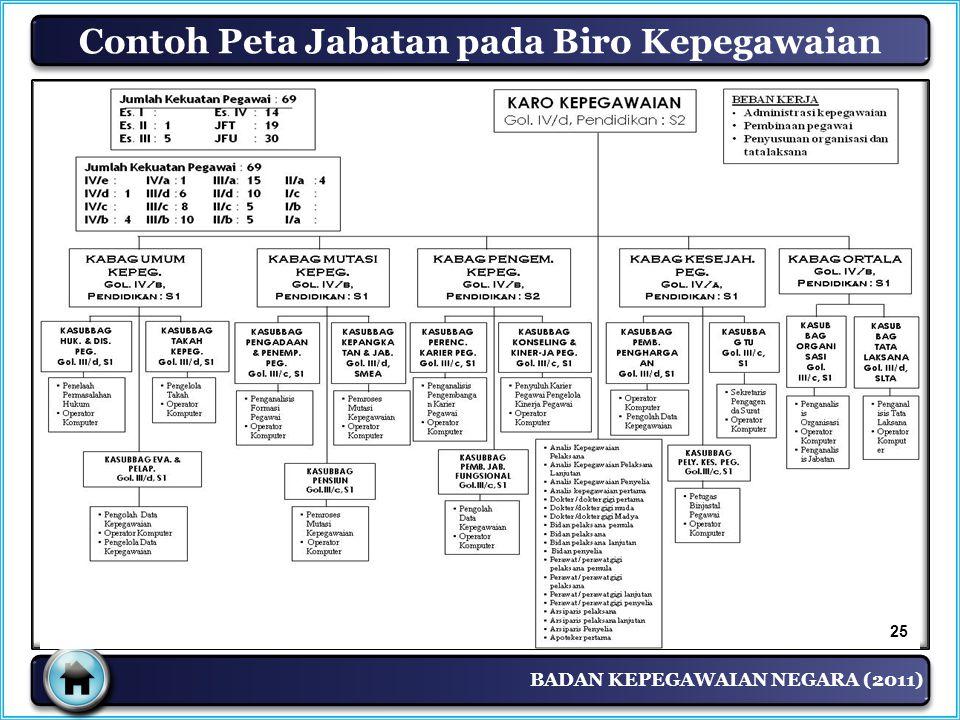 Contoh Peta Jabatan pada Biro Kepegawaian