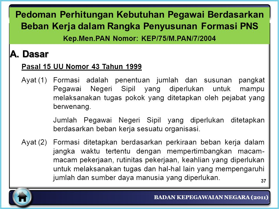 Kep.Men.PAN Nomor: KEP/75/M.PAN/7/2004