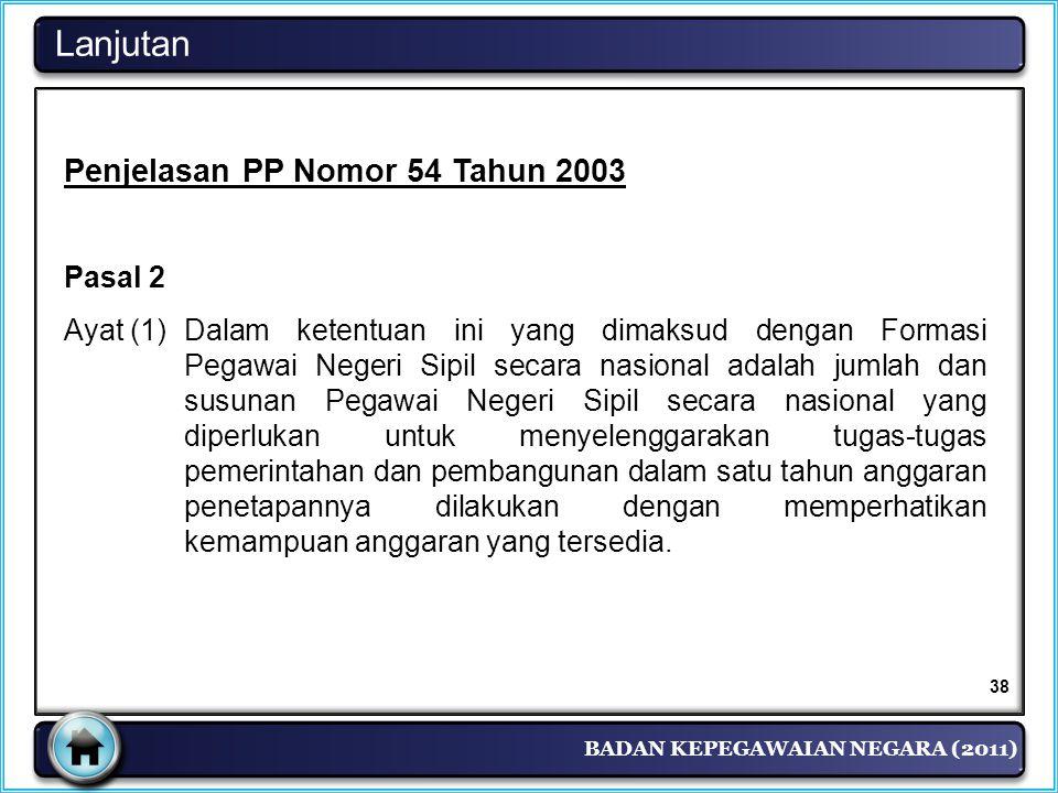 Lanjutan Penjelasan PP Nomor 54 Tahun 2003 Pasal 2