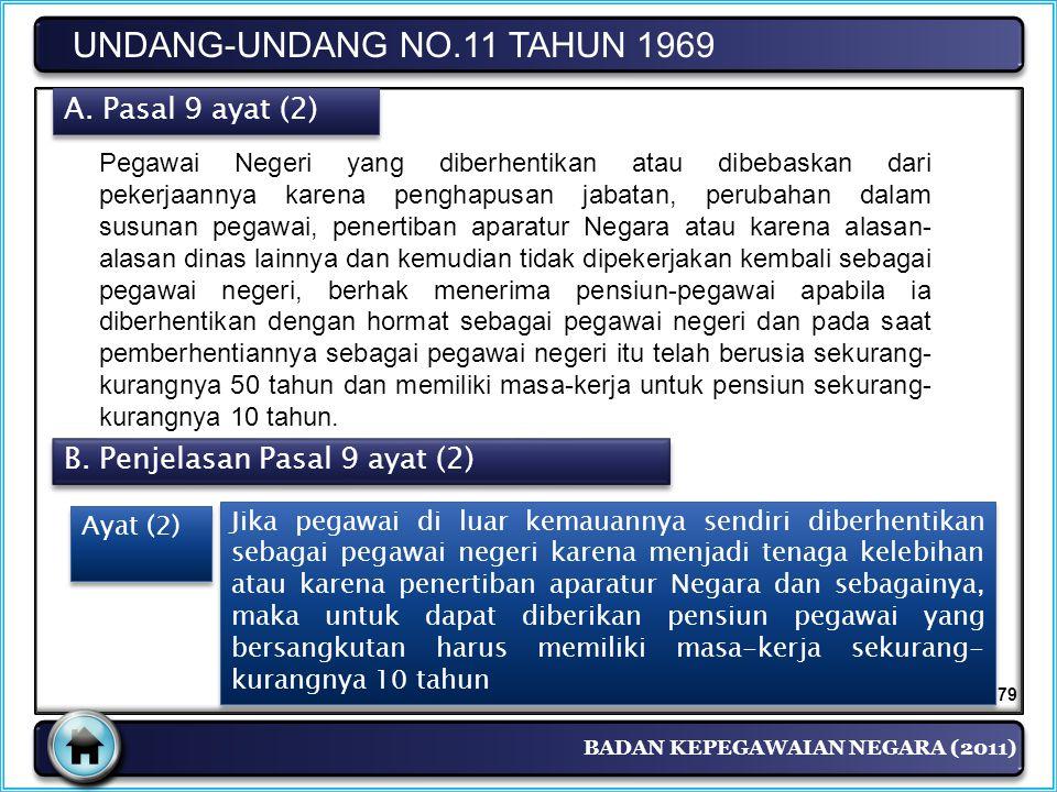 UNDANG-UNDANG NO.11 TAHUN 1969