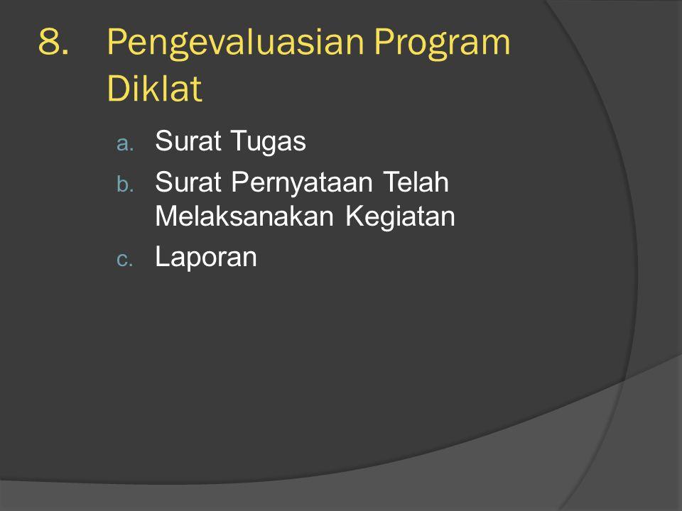 Pengevaluasian Program Diklat