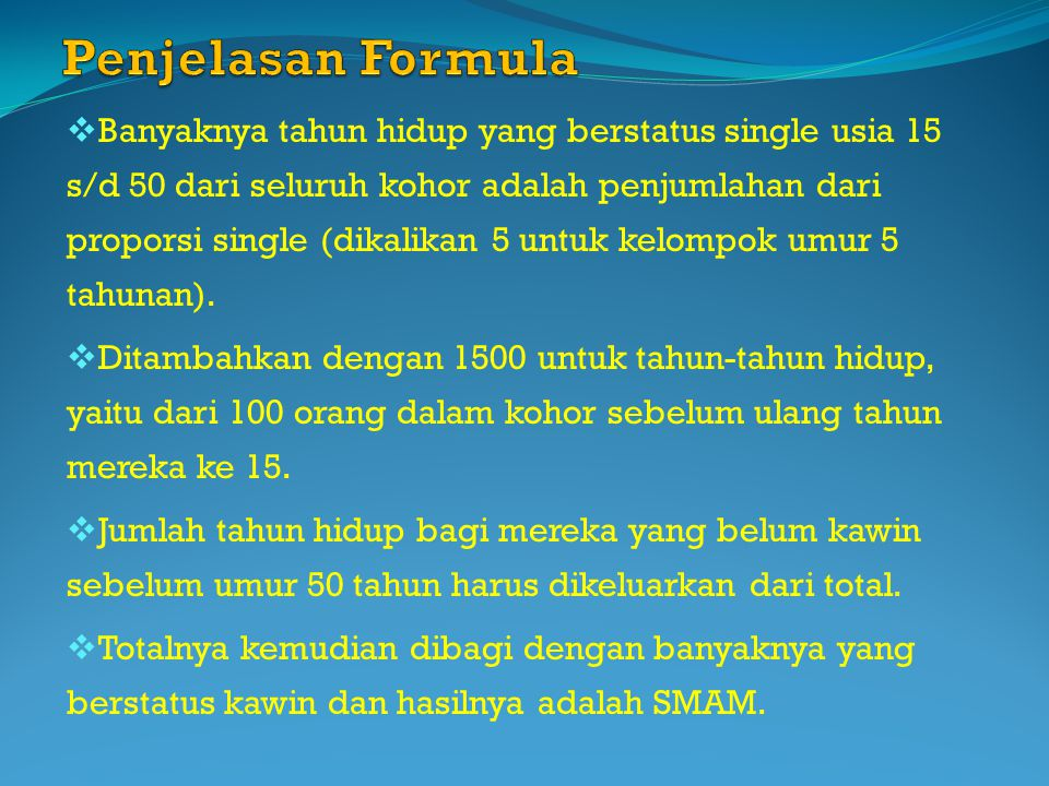 Penjelasan Formula