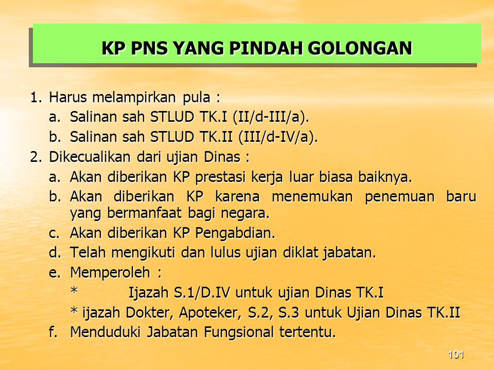 KP PNS YANG PINDAH GOLONGAN