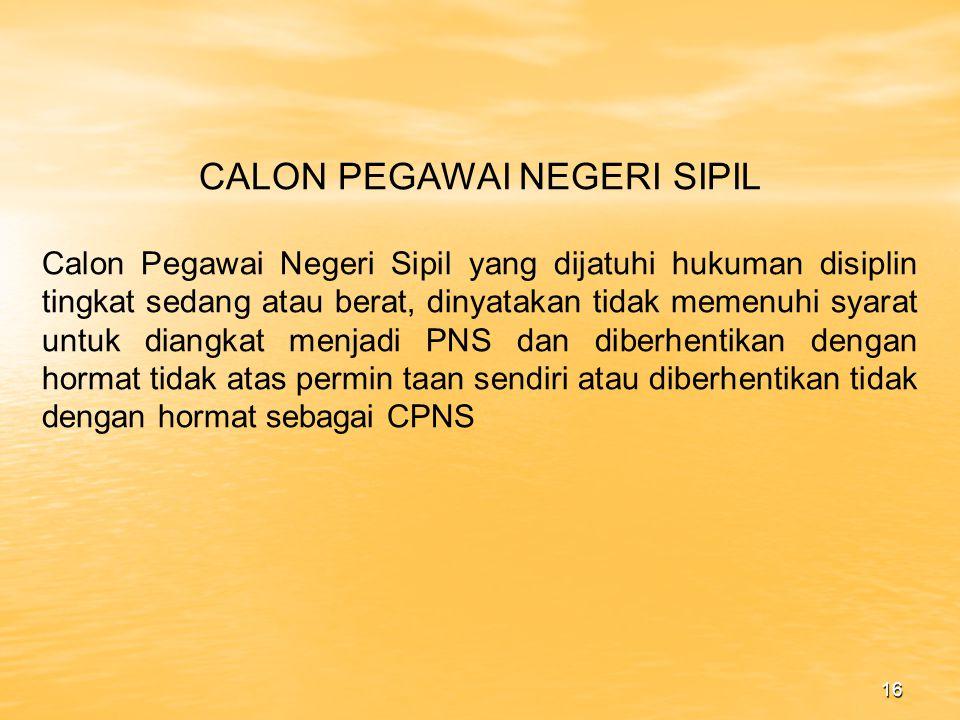 CALON PEGAWAI NEGERI SIPIL
