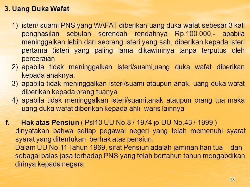 3. Uang Duka Wafat
