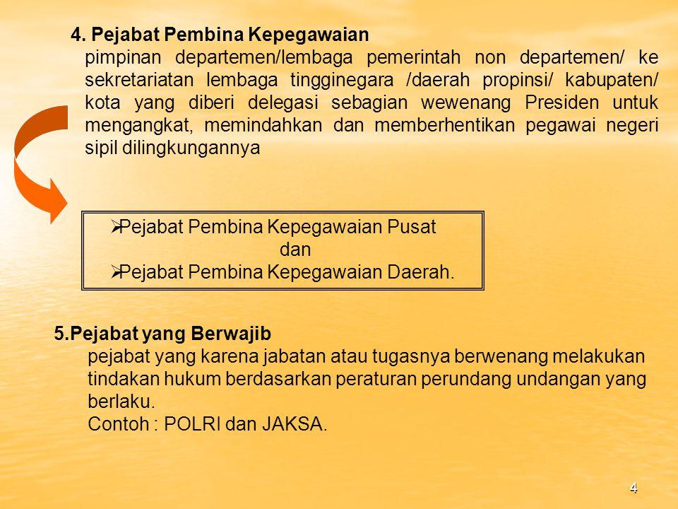 4. Pejabat Pembina Kepegawaian