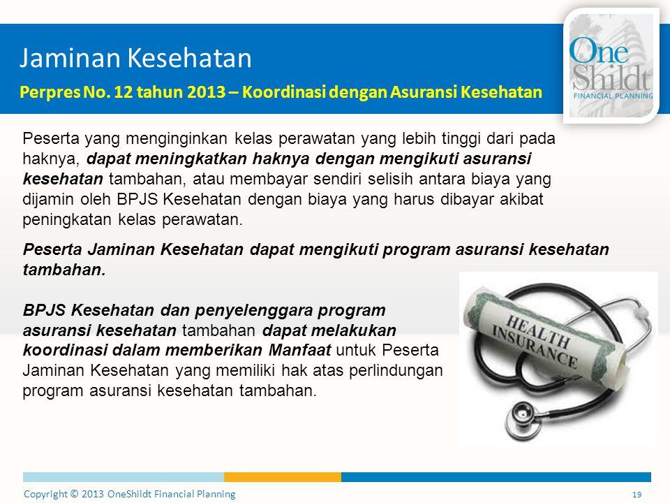 Jaminan Kesehatan Perpres No. 12 tahun 2013 – Koordinasi dengan Asuransi Kesehatan.