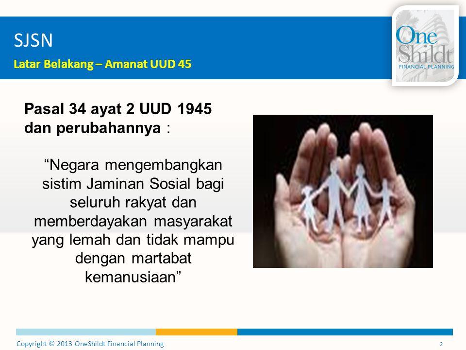 SJSN Pasal 34 ayat 2 UUD 1945 dan perubahannya :