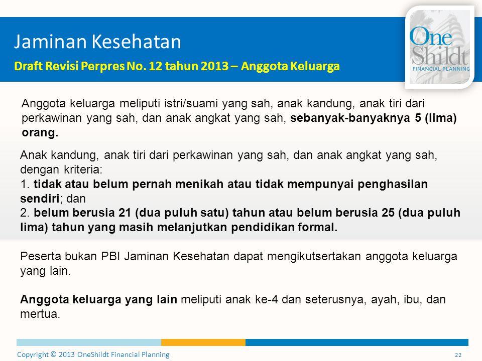 Jaminan Kesehatan Draft Revisi Perpres No. 12 tahun 2013 – Anggota Keluarga.