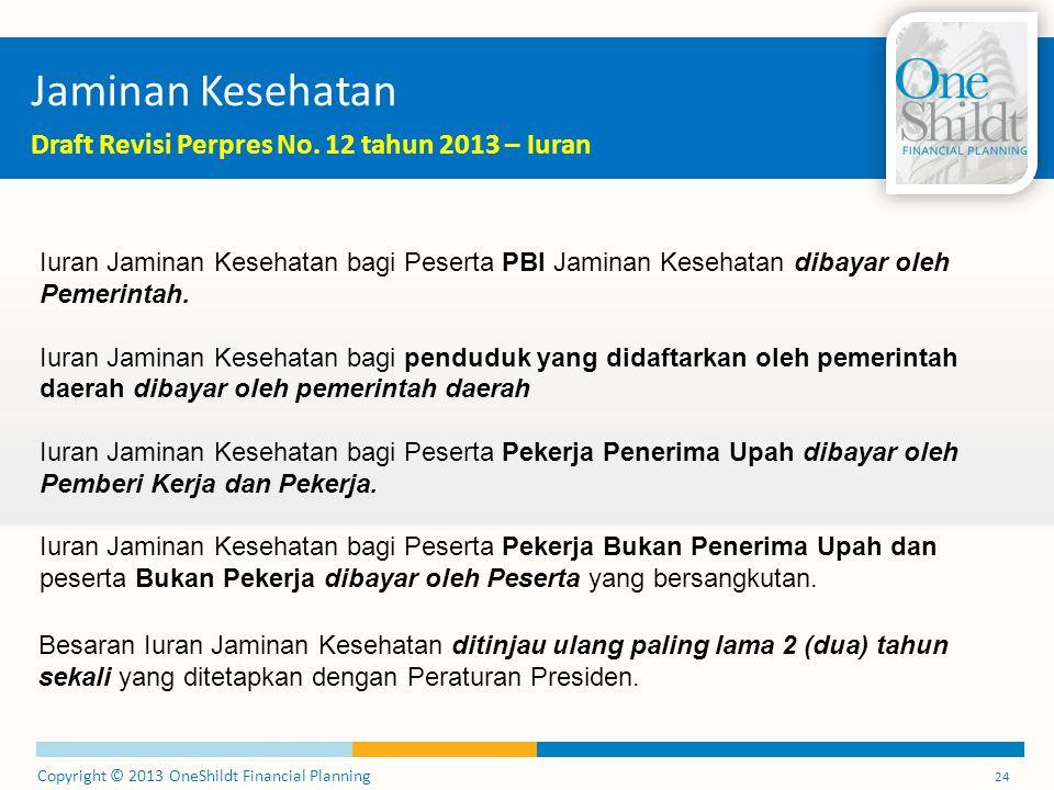 Jaminan Kesehatan Draft Revisi Perpres No. 12 tahun 2013 – Iuran