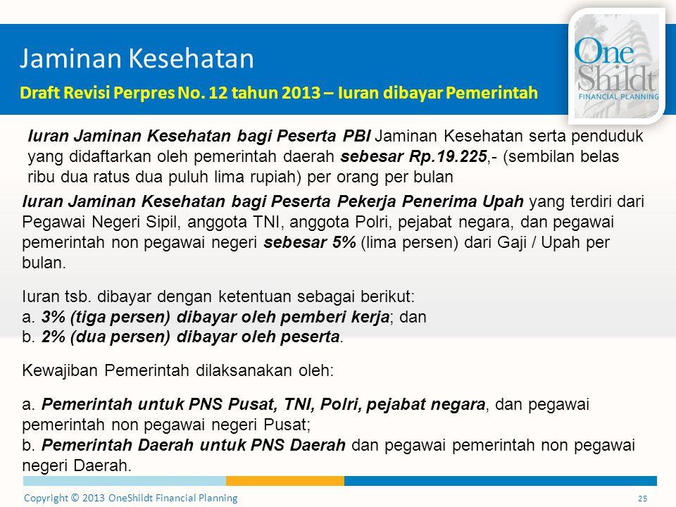 Jaminan Kesehatan Draft Revisi Perpres No. 12 tahun 2013 – Iuran dibayar Pemerintah.