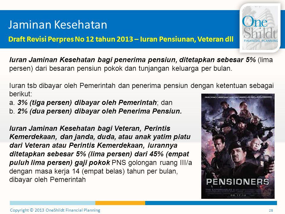 Jaminan Kesehatan Draft Revisi Perpres No 12 tahun 2013 – Iuran Pensiunan, Veteran dll.