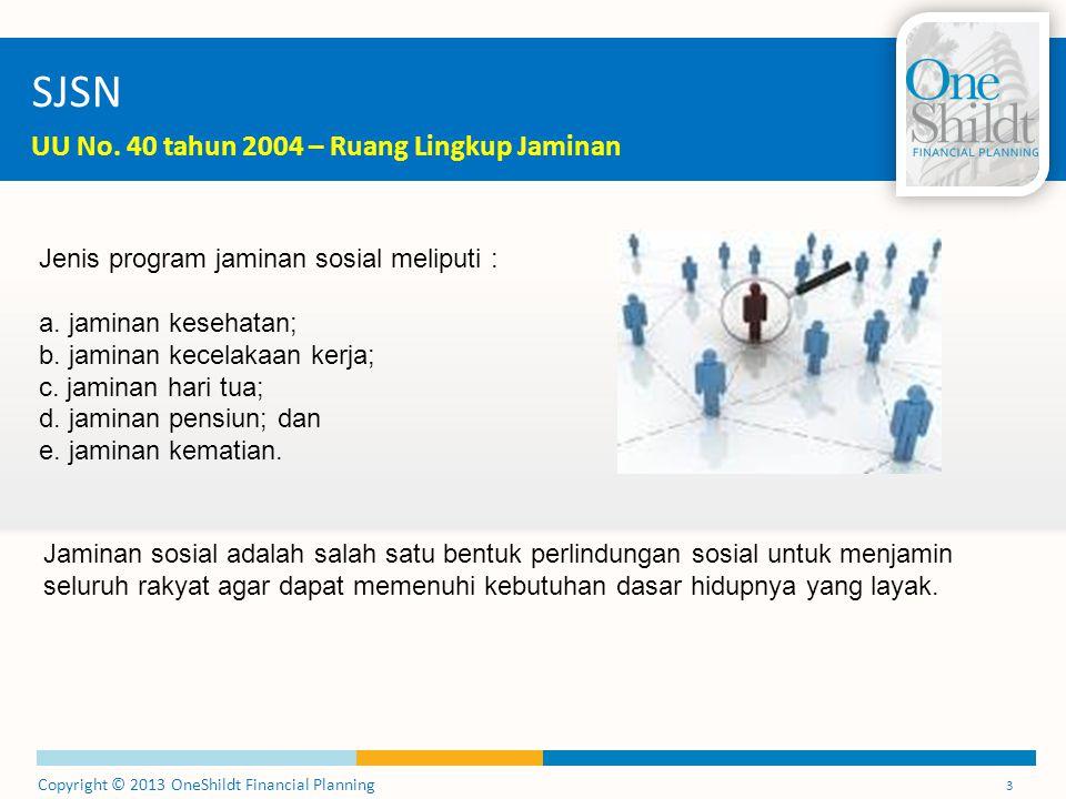 SJSN UU No. 40 tahun 2004 – Ruang Lingkup Jaminan