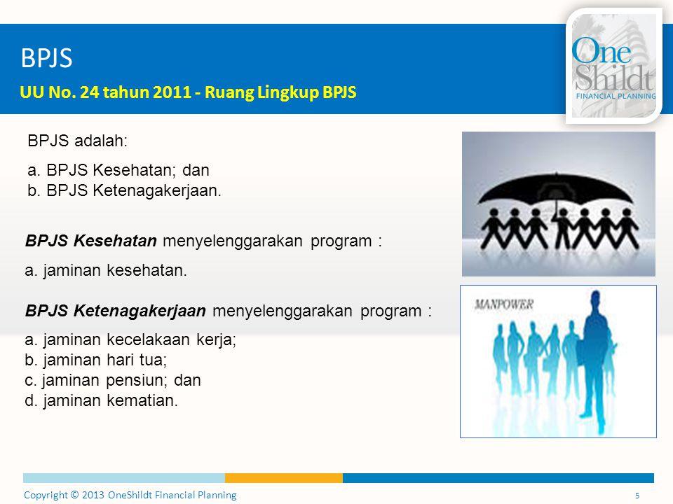BPJS UU No. 24 tahun 2011 - Ruang Lingkup BPJS BPJS adalah: