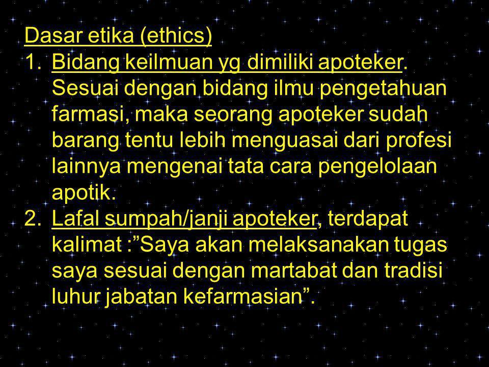 Dasar etika (ethics)