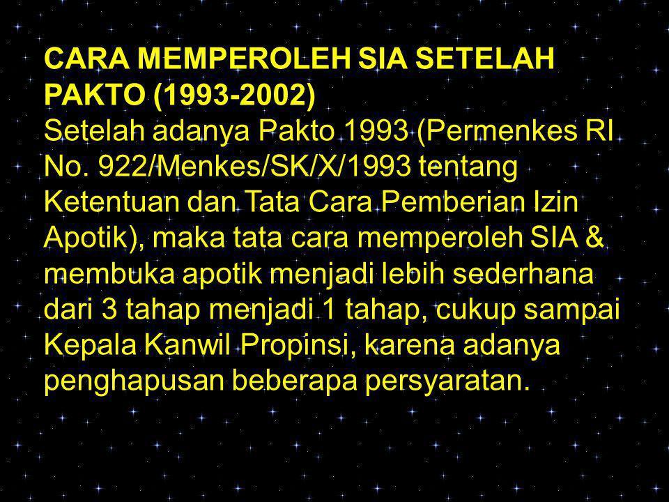 CARA MEMPEROLEH SIA SETELAH PAKTO (1993-2002)