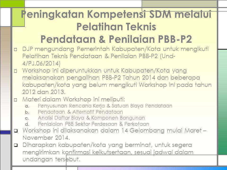 Peningkatan Kompetensi SDM melalui Pelatihan Teknis Pendataan & Penilaian PBB-P2