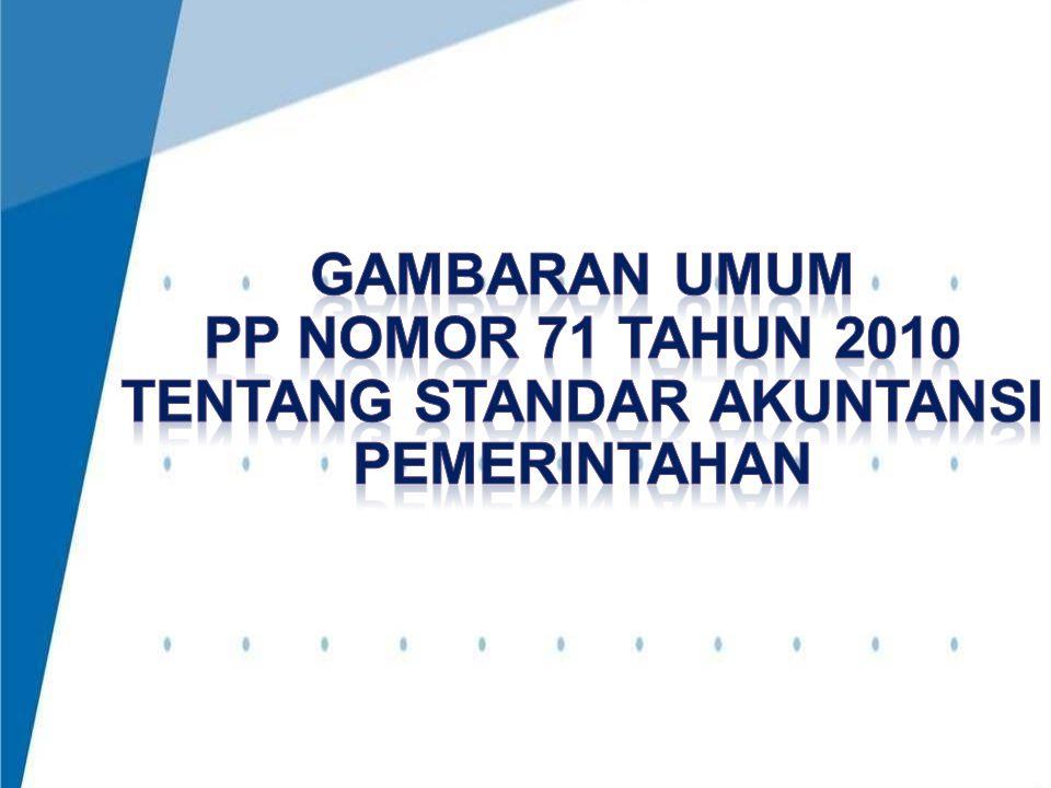 4/3/2017 9:12 AM GAMBARAN UMUM PP nomor 71 TAHUN 2010 tentang standar akuntansi pemerintahan.