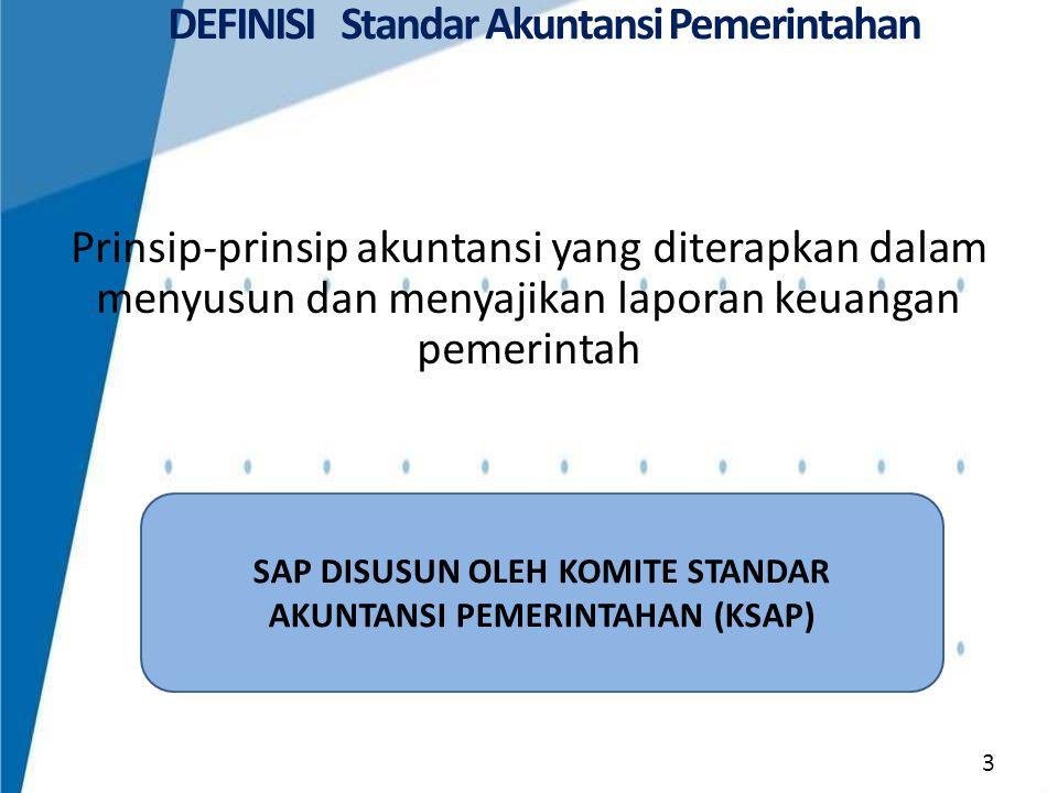 DEFINISI Standar Akuntansi Pemerintahan