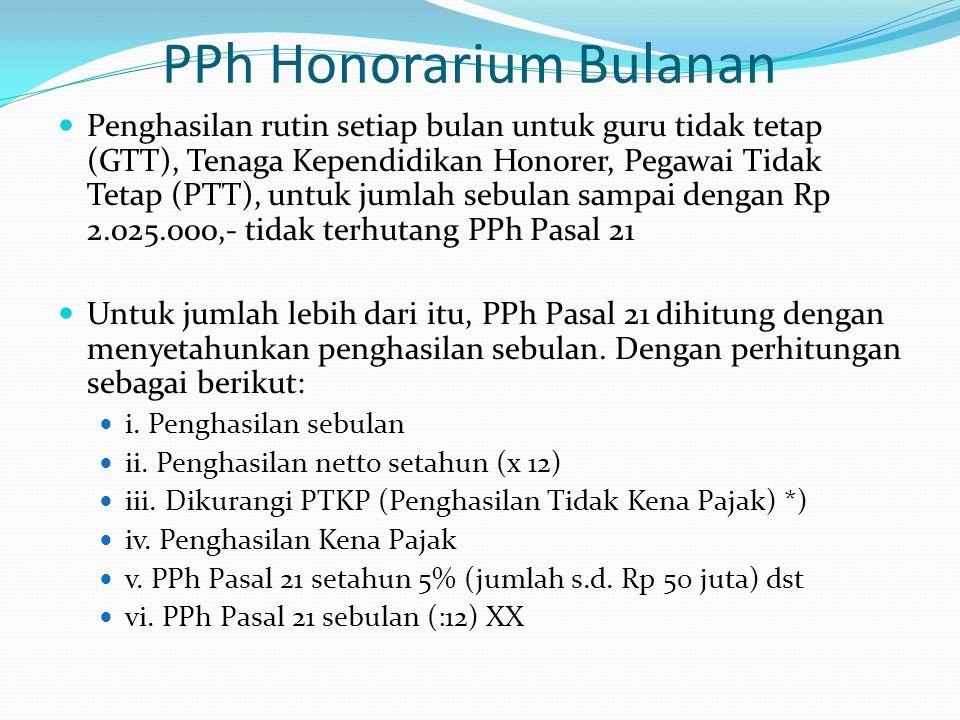 PPh Honorarium Bulanan