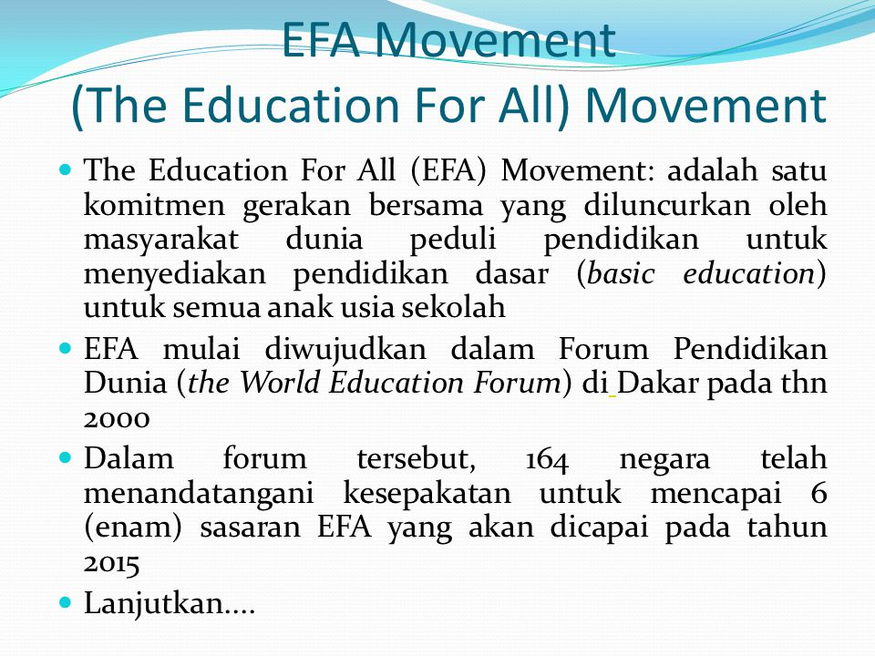 EFA Movement (The Education For All) Movement