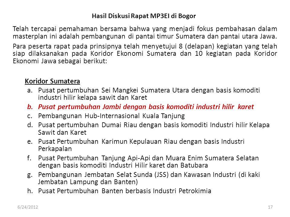 Hasil Diskusi Rapat MP3EI di Bogor