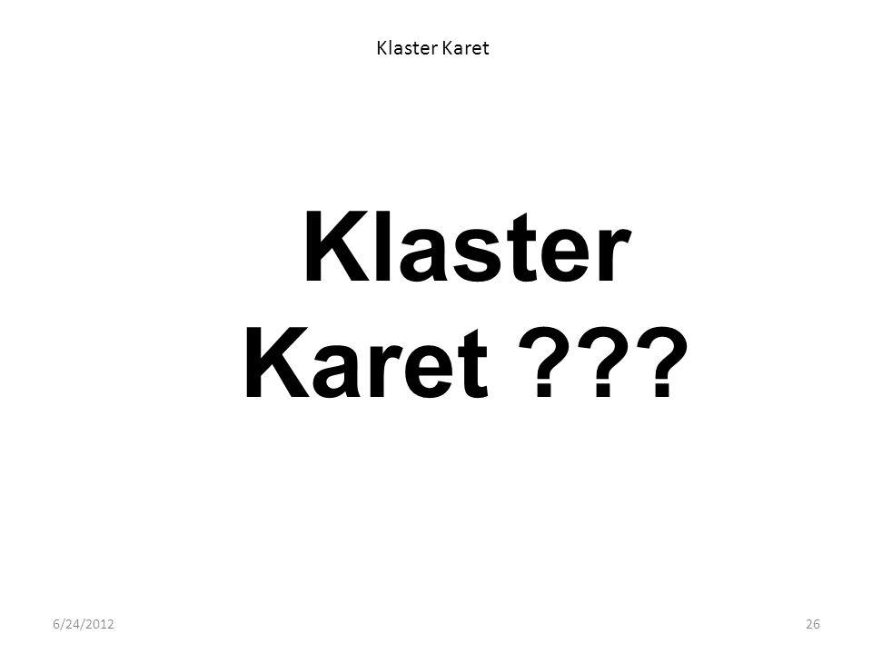 Klaster Karet Klaster Karet 6/24/2012