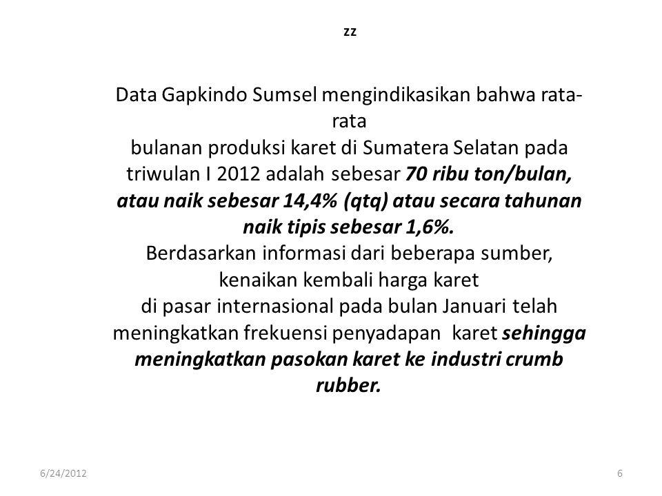Data Gapkindo Sumsel mengindikasikan bahwa rata-rata