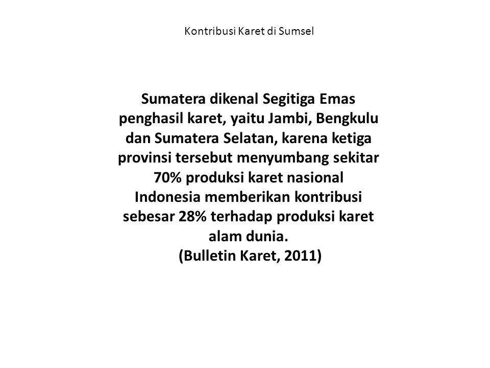 Kontribusi Karet di Sumsel