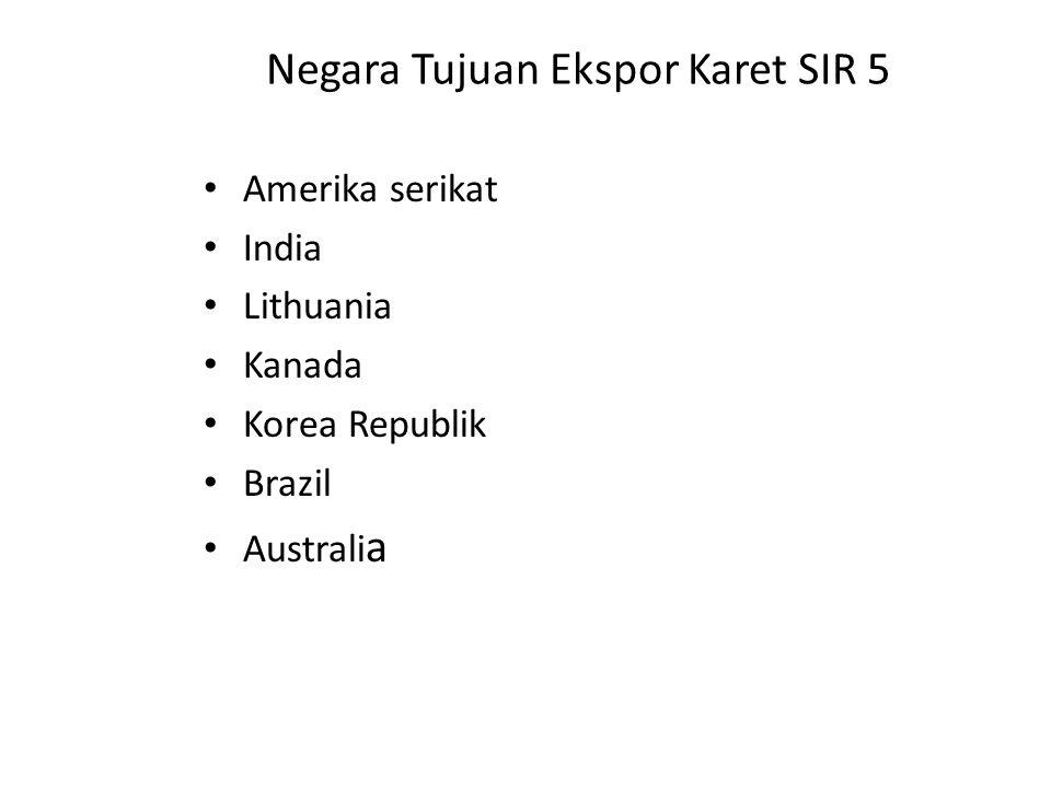 Negara Tujuan Ekspor Karet SIR 5