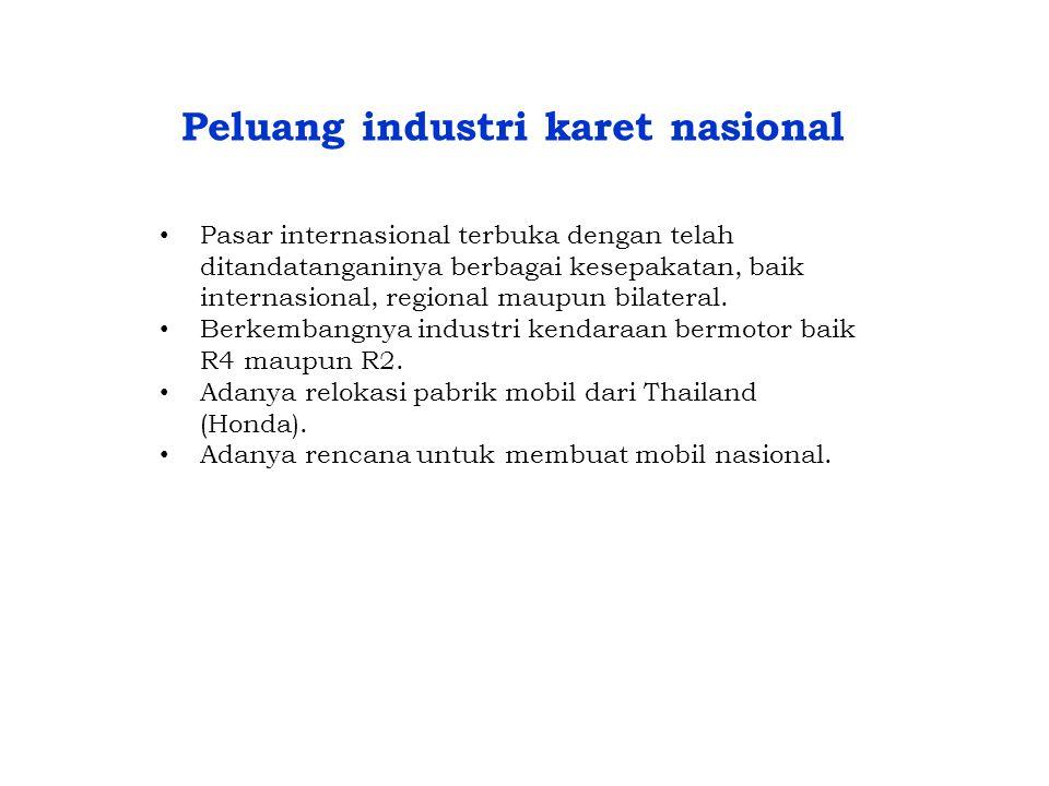 Peluang industri karet nasional