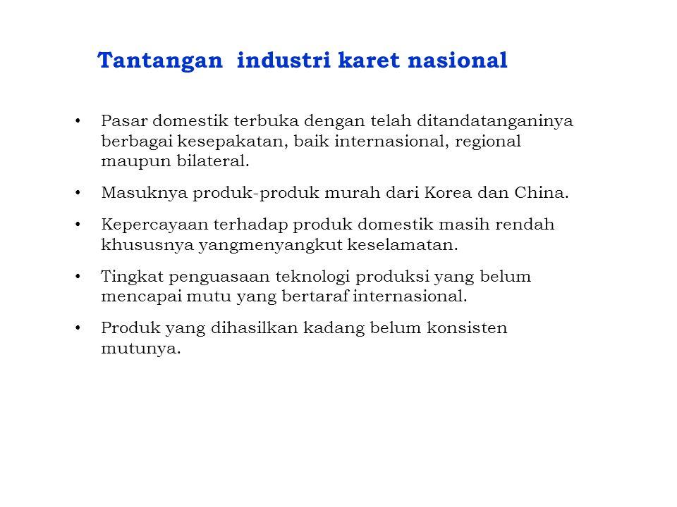 Tantangan industri karet nasional