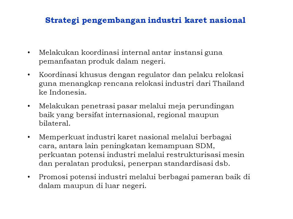 Strategi pengembangan industri karet nasional