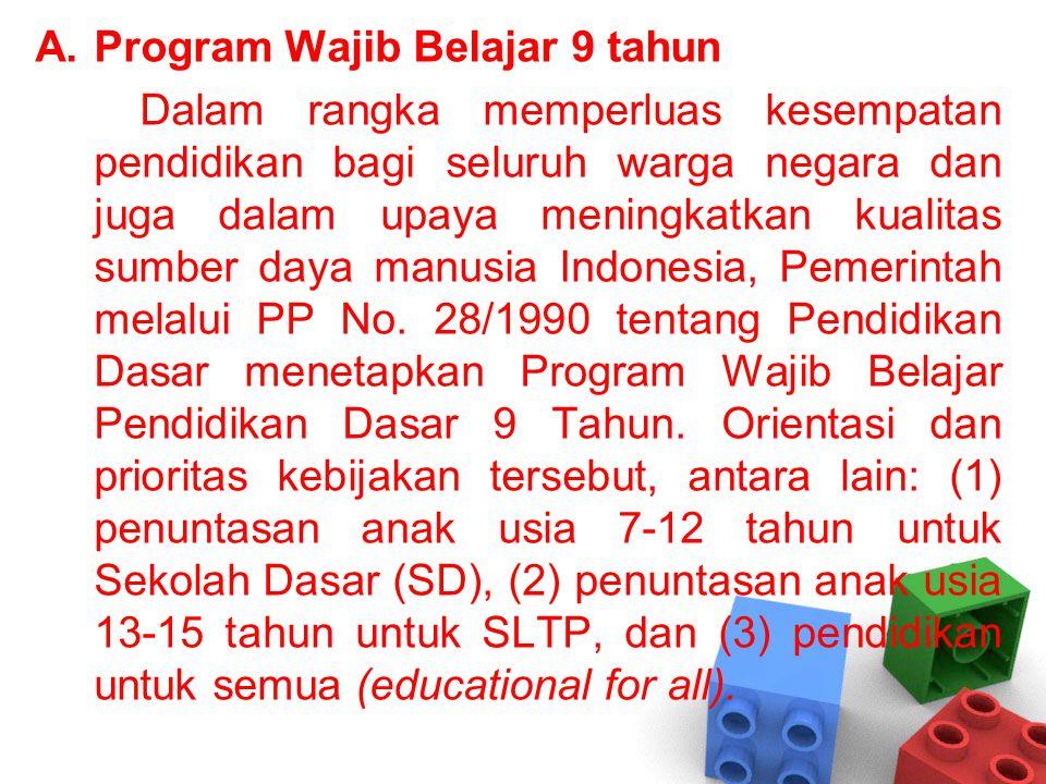 Program Wajib Belajar 9 tahun