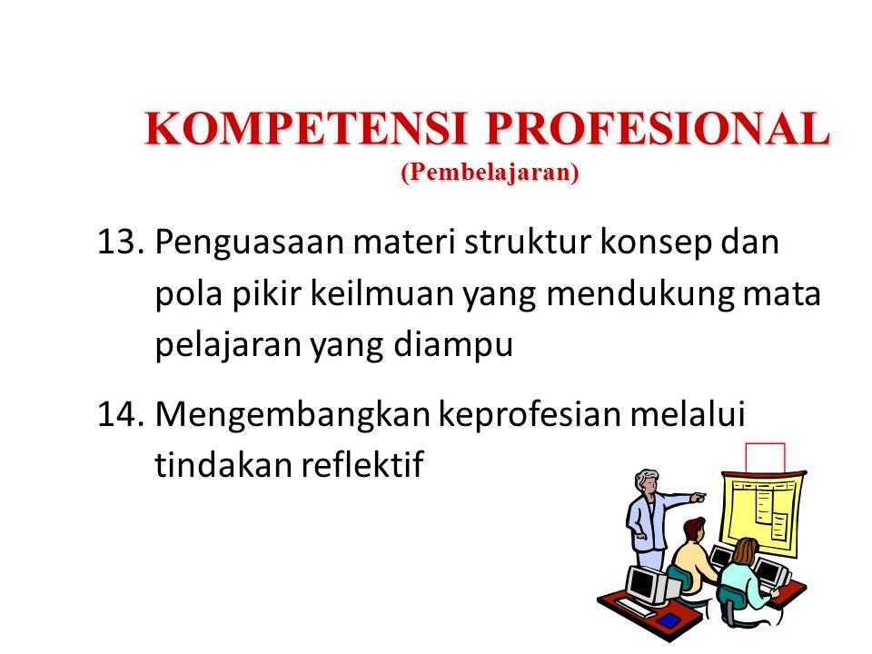KOMPETENSI PROFESIONAL (Pembelajaran)