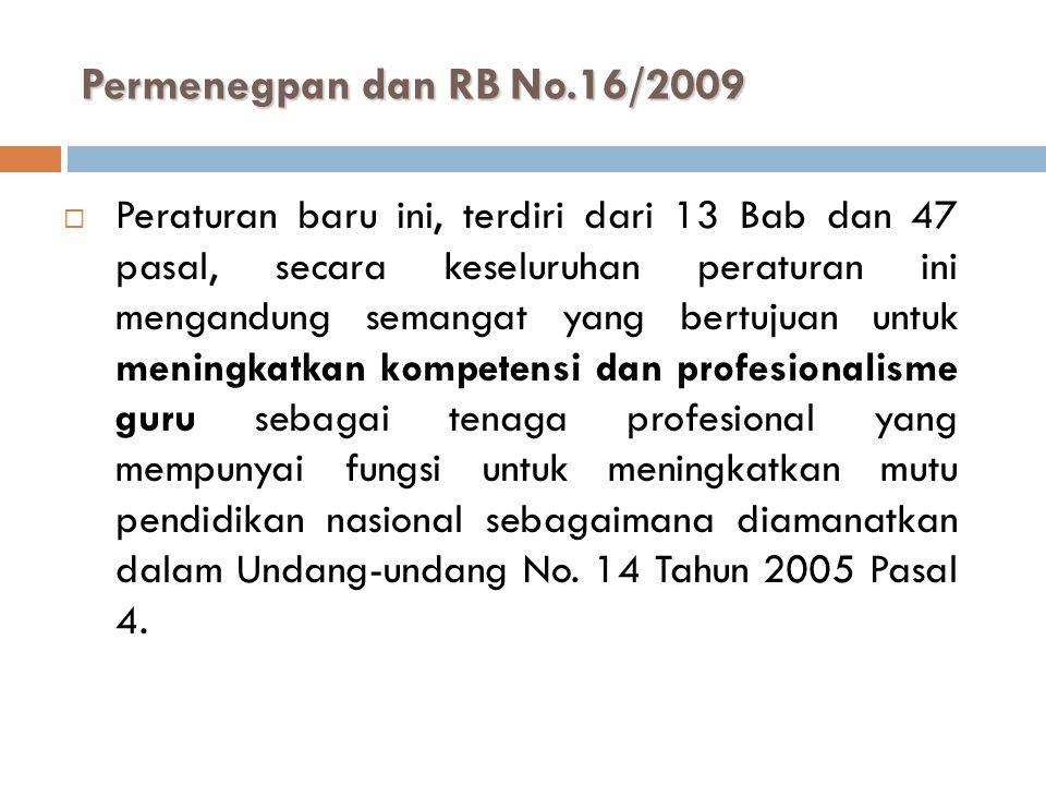 Permenegpan dan RB No.16/2009