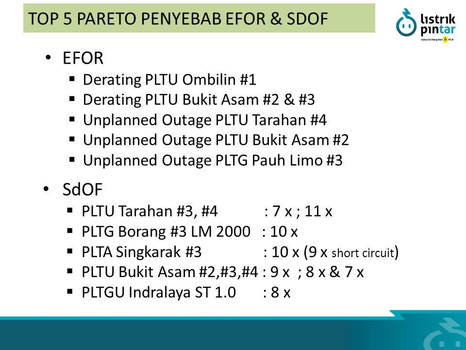 TOP 5 PARETO PENYEBAB EFOR & SDOF