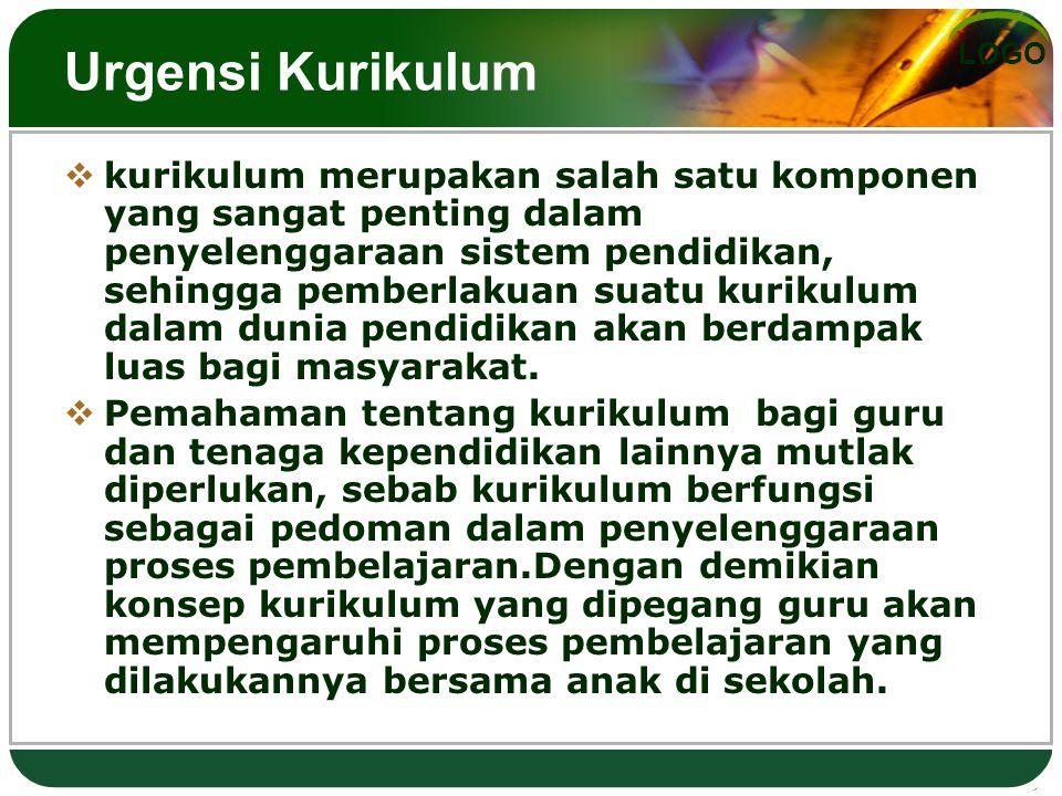 Urgensi Kurikulum