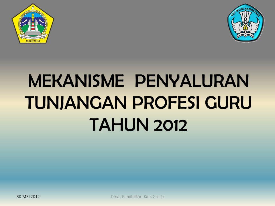 MEKANISME PENYALURAN TUNJANGAN PROFESI GURU TAHUN 2012