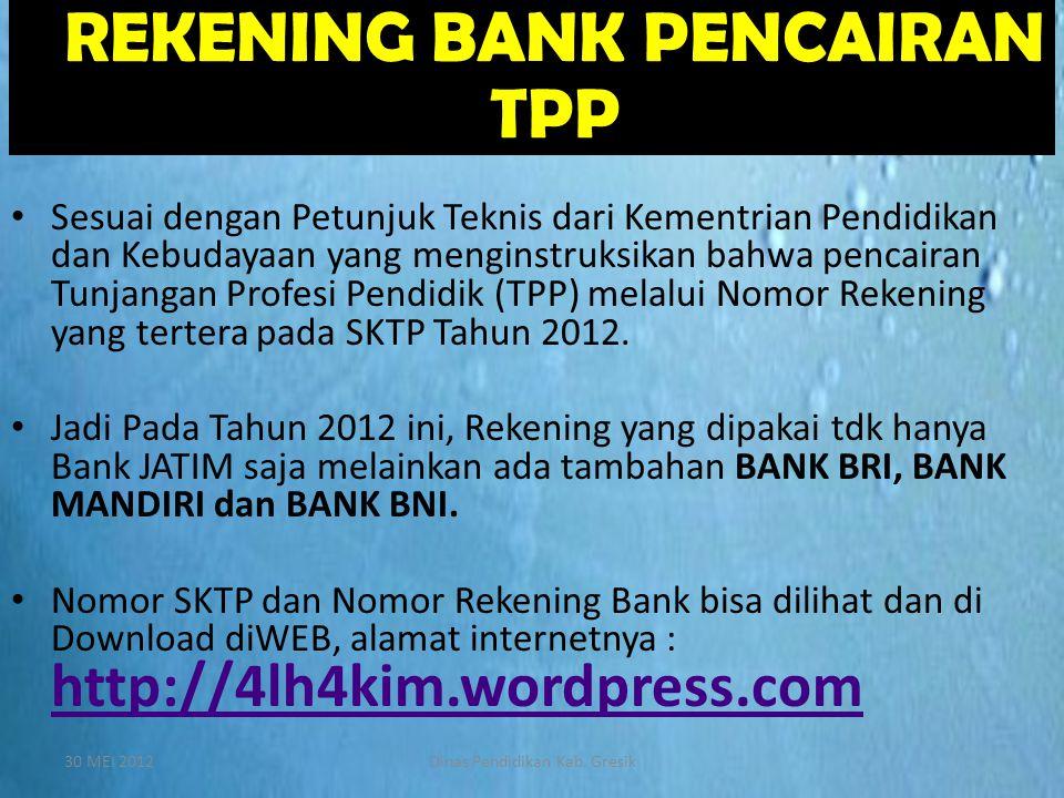 REKENING BANK PENCAIRAN TPP