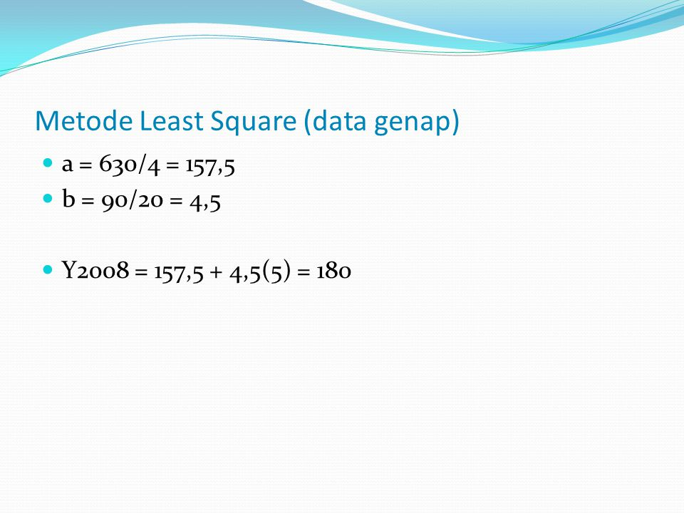 Metode Least Square (data genap)