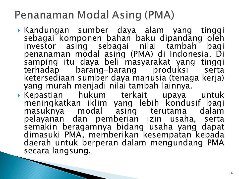 Penanaman Modal Asing (PMA)